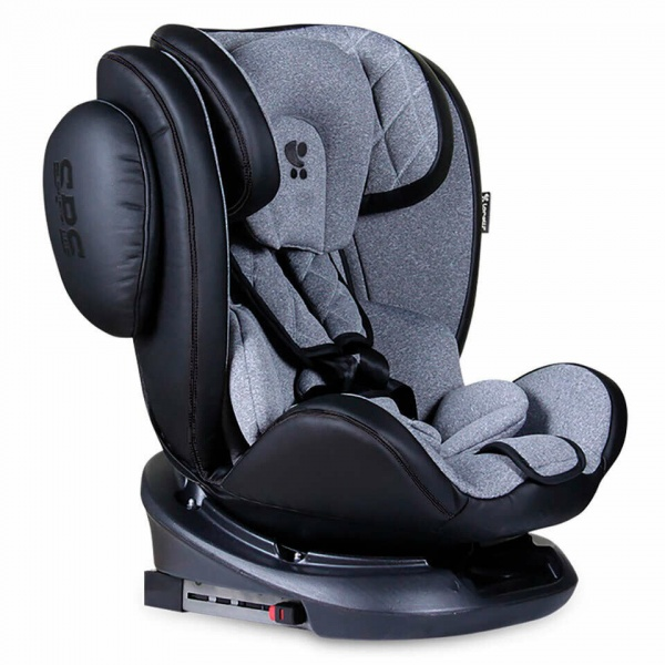 Автокресло Aviator Isofix Black Light Grey Lorelli